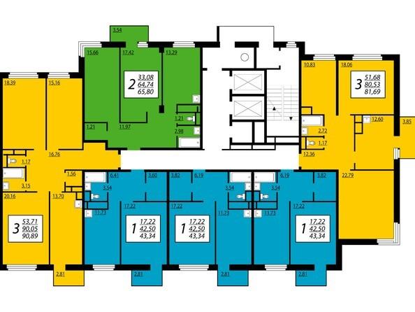 2 секция, 18-25 этажи