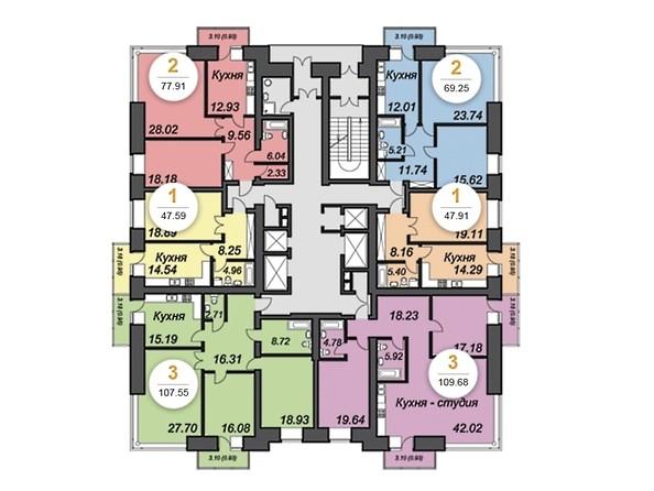 План 12-18 этажей