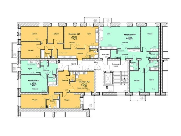 Планировка 3 этажа 2 подъезд.