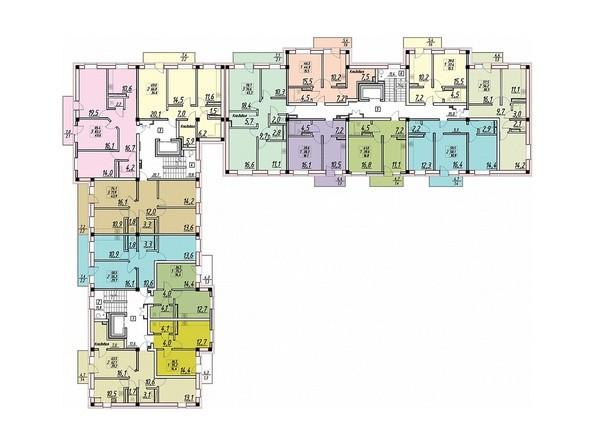 Планировки ВЕСНА ж/к, 2 этап - Планировка 6 этажа