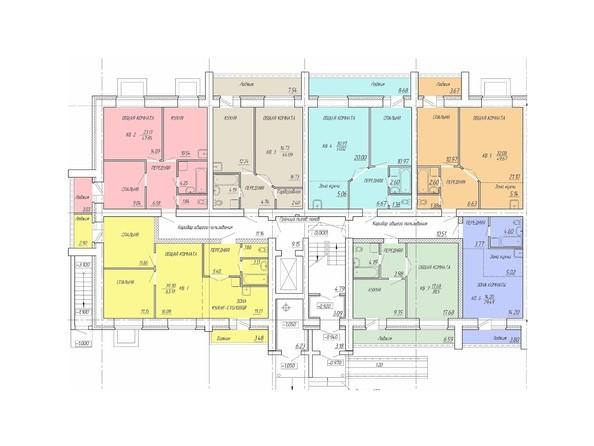 Планировки Жилой комплекс Деповская, 56 - Планировка 1 этажа, 1 б/с