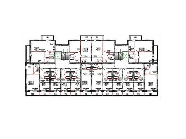 Планировки Жилой комплекс ДРУЖБА - Планировка 2-10 этажей