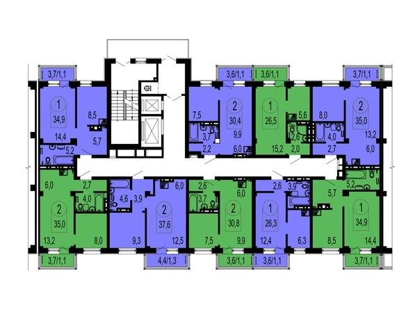 Типовая планировка, секция 2