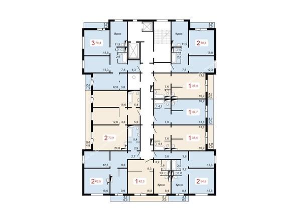 Планировка 10-16 этажей