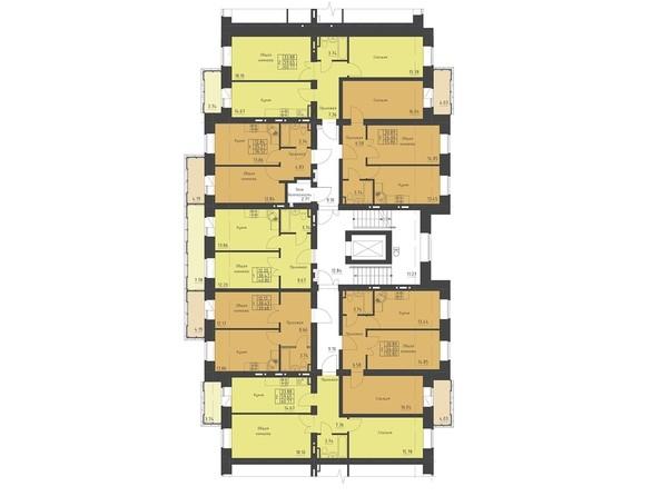 9 секция. Планировка типового этажа