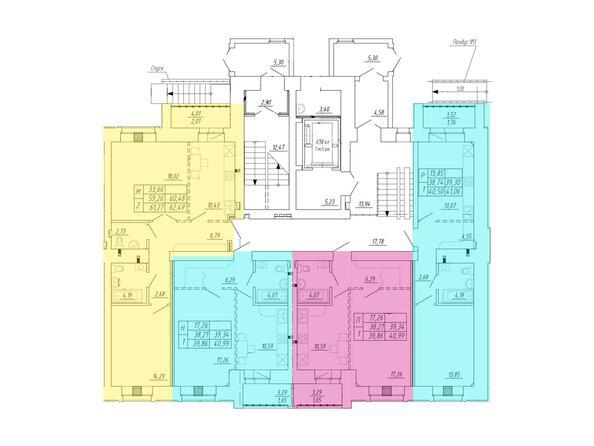 1 подъезд, 1 этаж