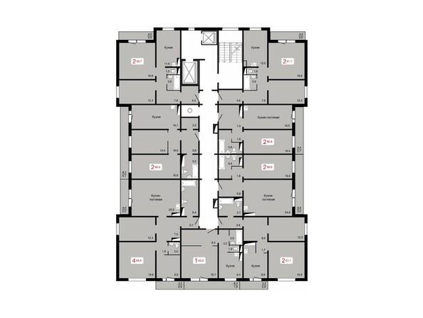 Планировка 6-9 этажей