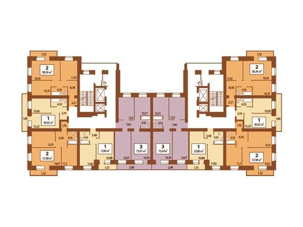 Типовая планировка 4-13 этажей