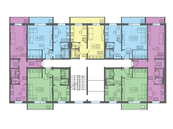 Подъезд 2. Планировка 2-7 этажей