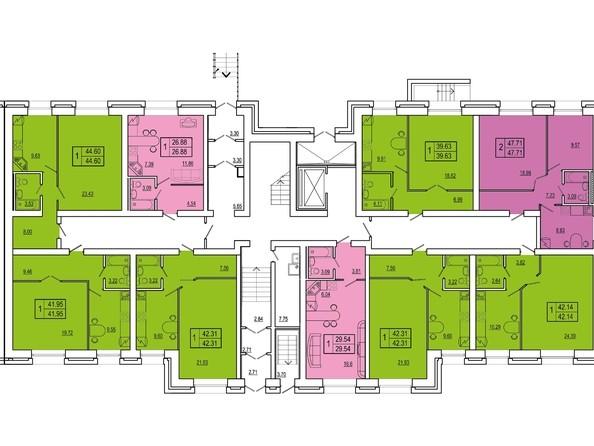 Планировки Жилой комплекс СНЕГИРИ, дом 2 - 3 секция 1 этаж