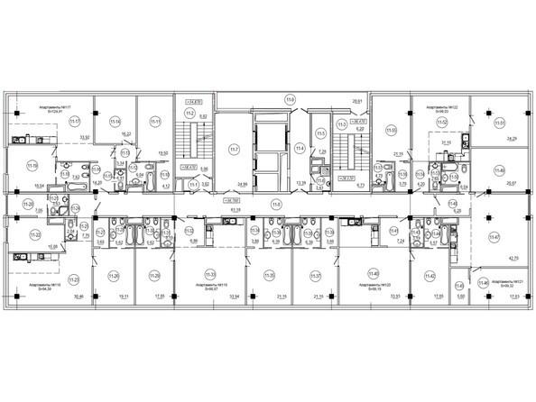 Планировки Бизнес-центр WTC ЦЕНТР МЕЖДУНАРОДНОЙ ТОРГОВЛИ - Планировка 11,12 этажей