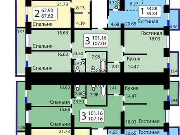 Продам 3-комнатную, 107.2 м², Елены Стасовой ул, 38д. Фото 13.