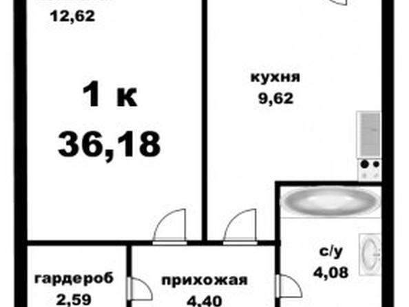 Продам 1-комнатную, 36.8 м2, Юрина ул, 168К. Фото 1.