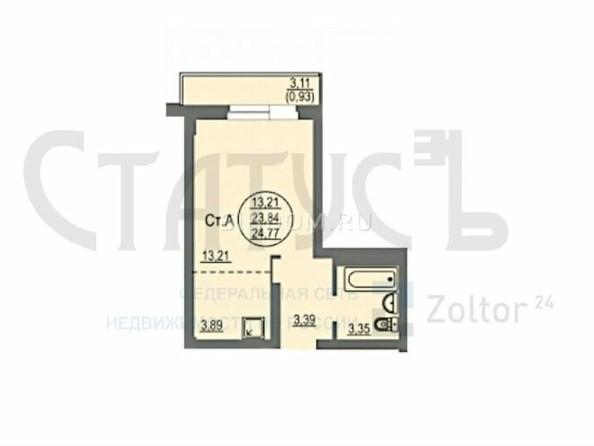 Продам 1-комнатную, 24.77 м², Балтийская ул, 101. Фото 1.