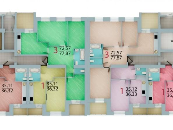 Продам 2-комнатную, 61.61 м², ЕНИСЕЙСКИЙ, дом 1. Фото 8.