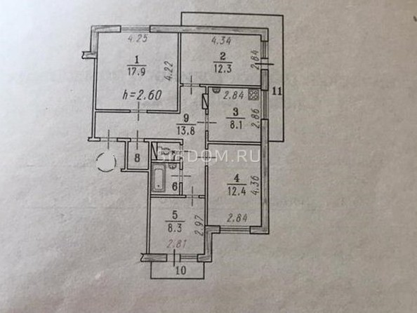 Продам 4-комнатную, 78 м², Богдана Хмельницкого ул, 38. Фото 1.